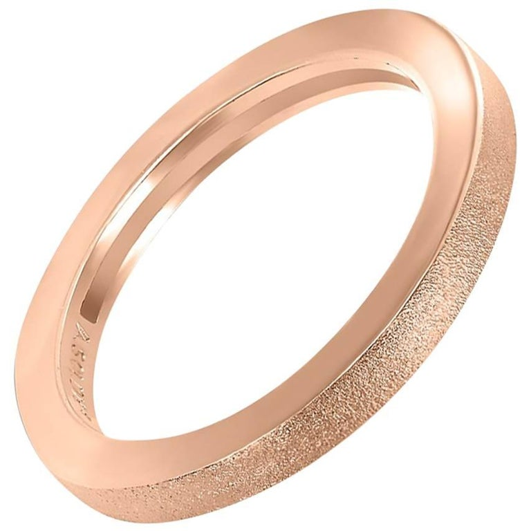 Rose Gold Textured Band One of a Kind
