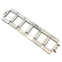 Georg Jensen Sterling Silver Modernist Bracelet No. 195 by Astrid Fog