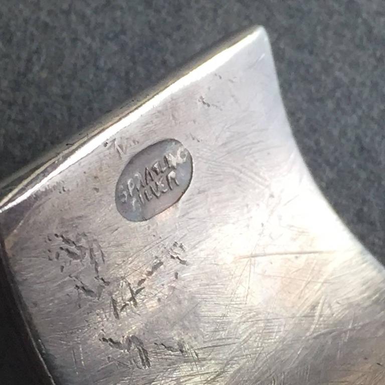 Women's William Spratling Amethyst Sterling Silver Aztec Sun Cuff Bracelet For Sale