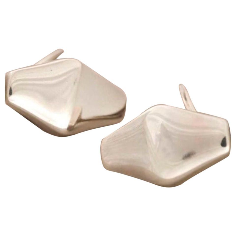 georg jensen sterling silver modernist cufflinks by kim. Black Bedroom Furniture Sets. Home Design Ideas