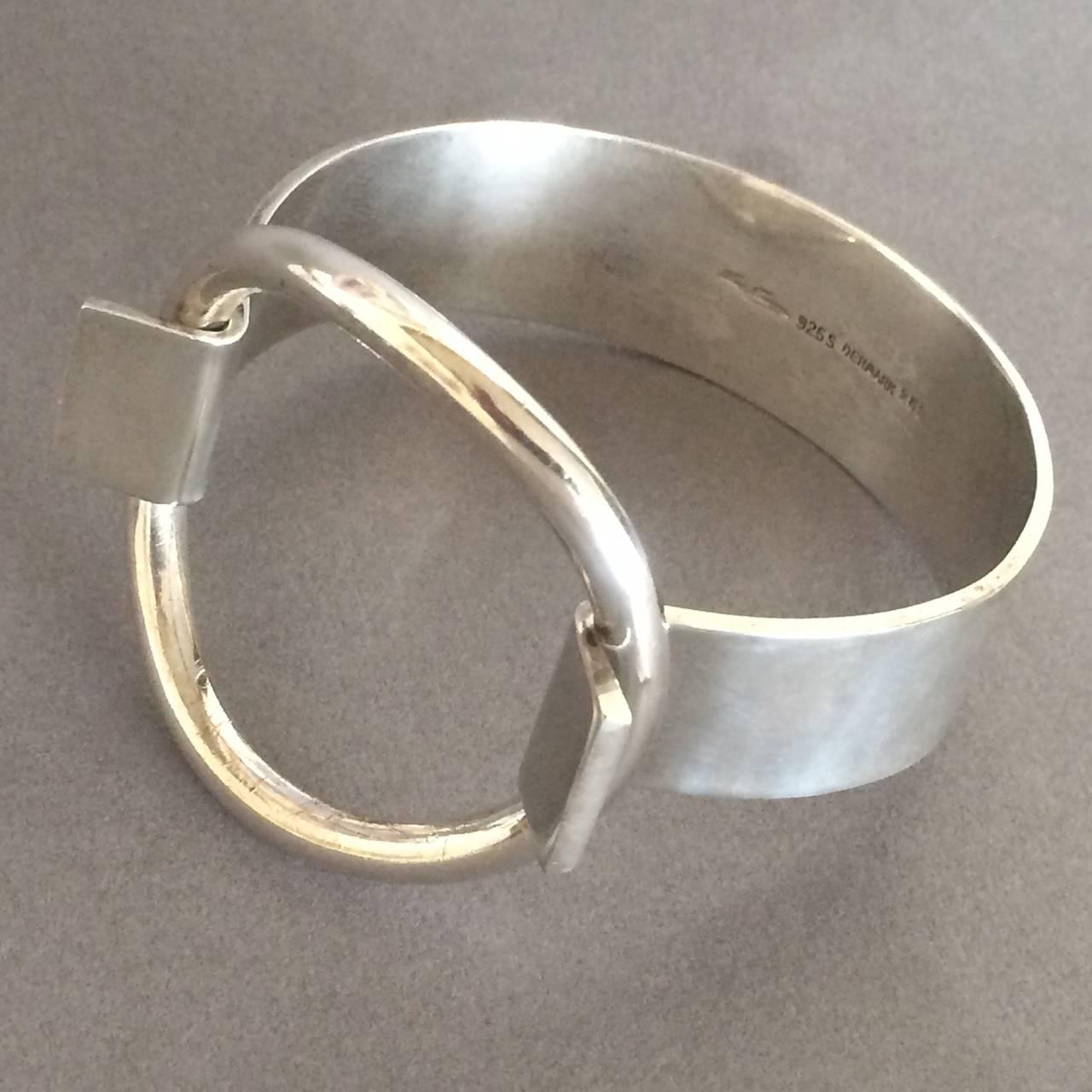 "Hans Hansen Modernist Cuff ""Ring"" Bracelet designed by Bent Gabrielsen 2"