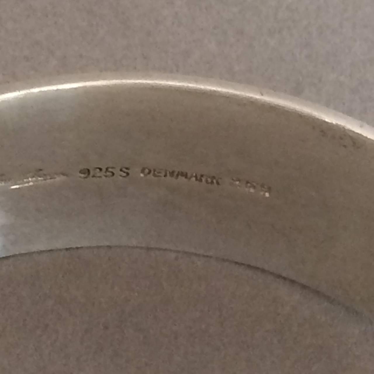 "Hans Hansen Modernist Cuff ""Ring"" Bracelet designed by Bent Gabrielsen 5"