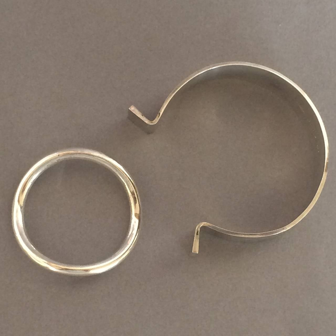 "Hans Hansen Modernist Cuff ""Ring"" Bracelet designed by Bent Gabrielsen 3"