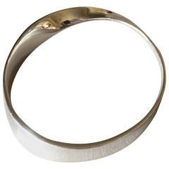 "Georg Jensen Sterling Silver ""Mobius"" Bracelet No. 206 by Vivianna Torun"