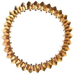 Georg Jensen by Tuk Fischer Very Rare Gold Necklace No. 1133
