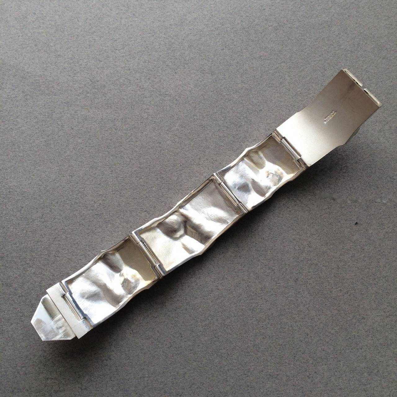 Bjorn Weckstrom Lapponia Modernist Sterling Silver Galactic Bracelet For Sale 1