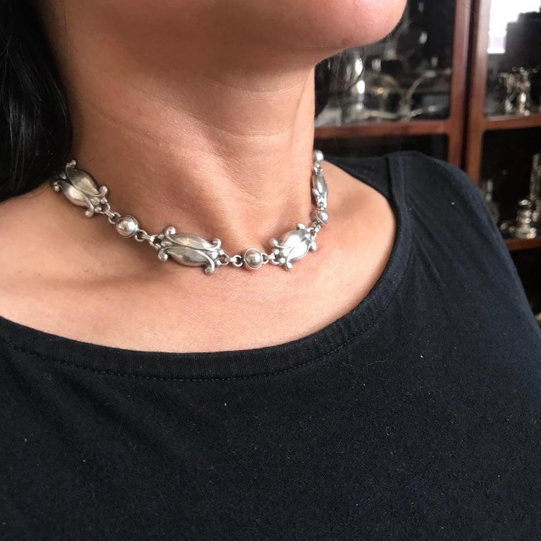 Georg Jensen Sterling Silver Necklace, No. 15 For Sale 3