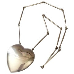 Georg Jensen Heart Necklace No. 126 by Astrid Fog