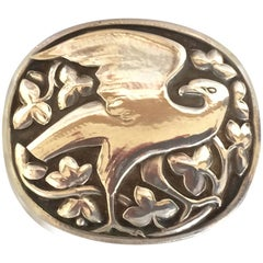 Georg Jensen Sterling Silver Rare Eagle Brooch No. 166