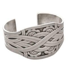 Georg Jensen Cuff Style Bracelet, No. 55 by Harald Nielsen