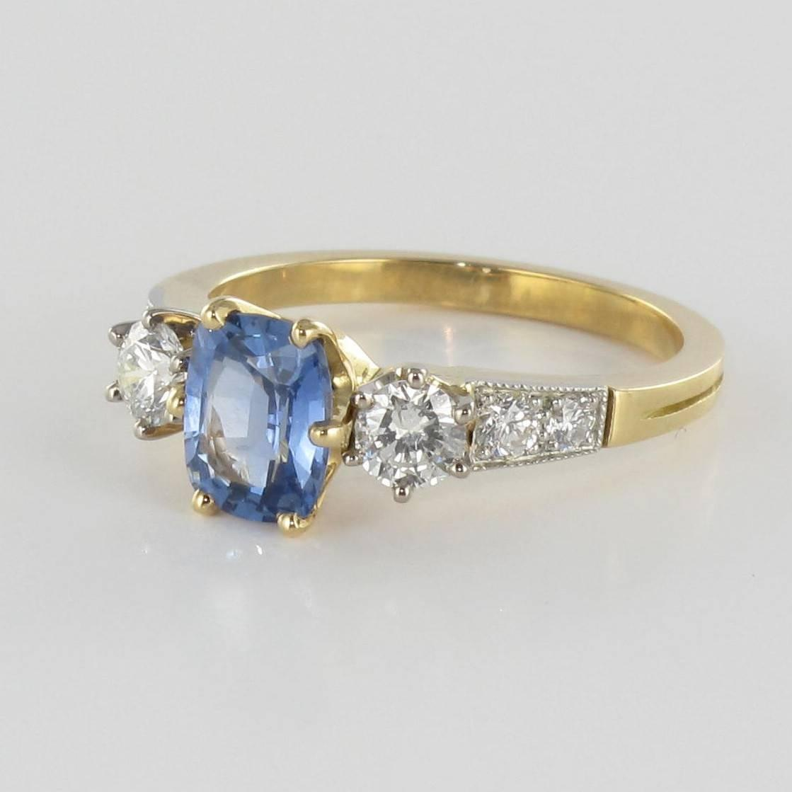 Diamond Rings For Sale Cheap: Blue Sapphire And Diamond Ring For Sale At 1stdibs