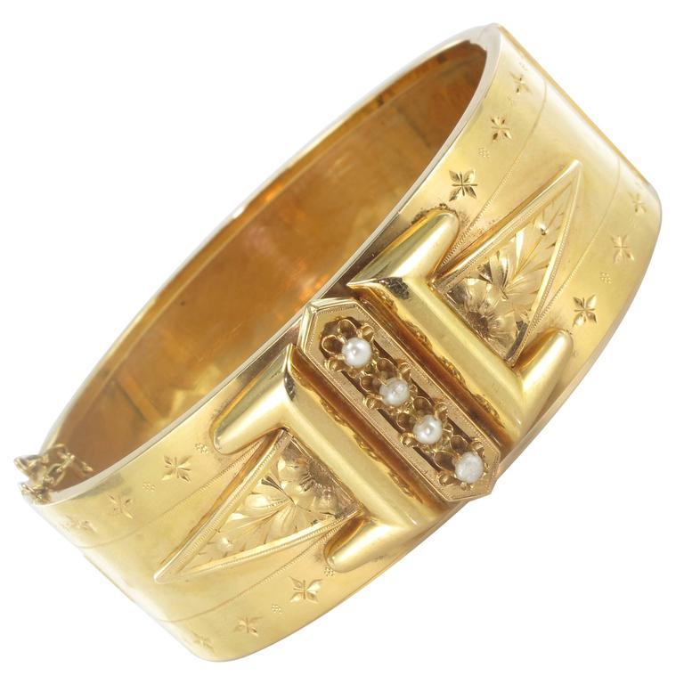 Pearl Gold Napoleon III Bracelet