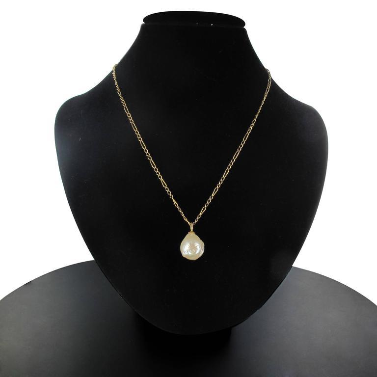 Blister Pearl Gold Pendant  5