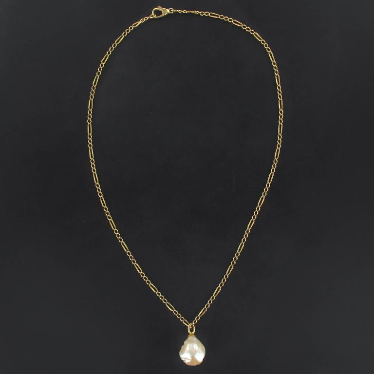 Blister Pearl Gold Pendant  2