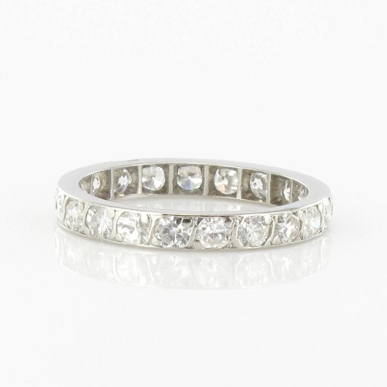 Diamond Platinum Eternity Band Ring 4