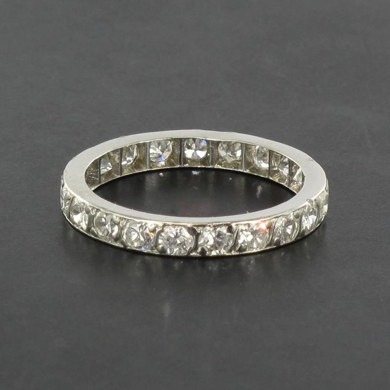 Diamond Platinum Eternity Band Ring 5