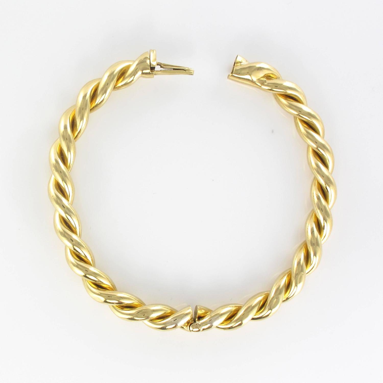 Antique Twisted Gold Bangle Bracelet For Sale At 1stdibs