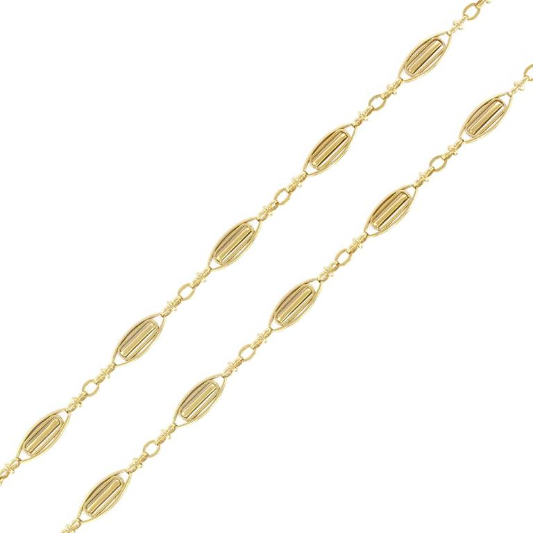 French 19th Century Antique Gold Chain Necklace
