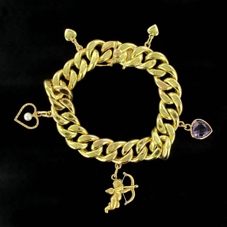 Bracelet In 18 Carat Yellow Gold Eagle Head Hallmark This Beautiful Charm