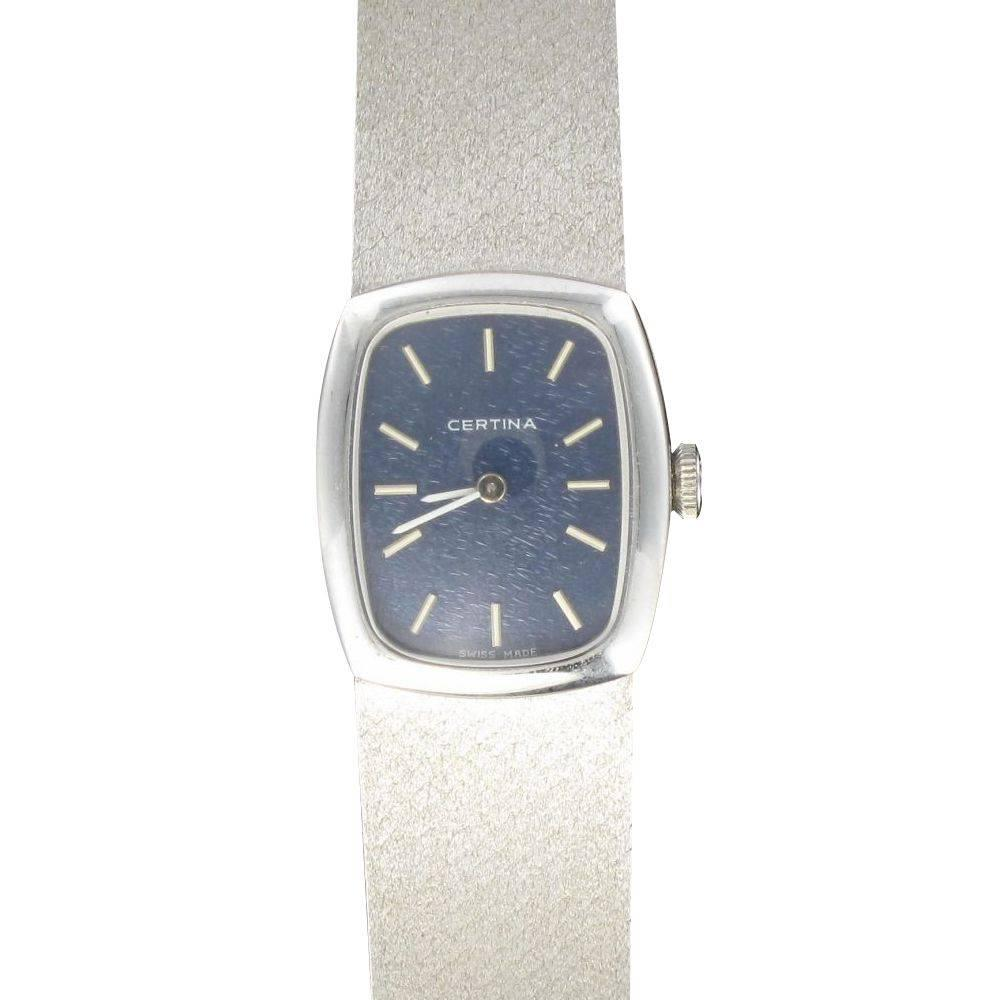 1950s Certina White Gold Women Watch