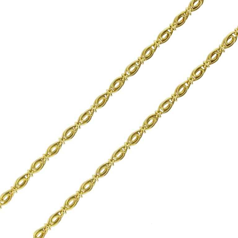 French 19th Century 18 carats Yellow Gold Long Chain Necklace