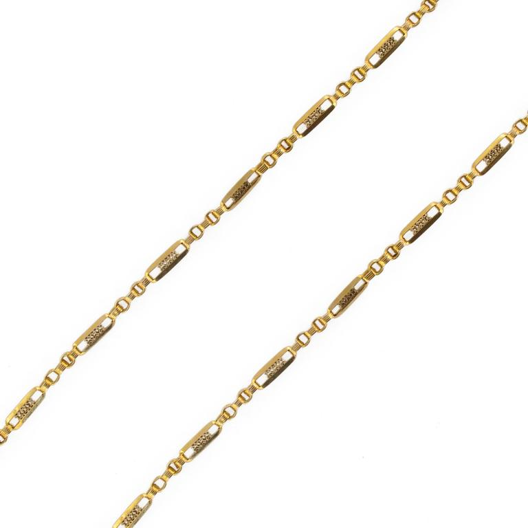 French 19th Century 18 Carat Rose Gold Chain Necklace