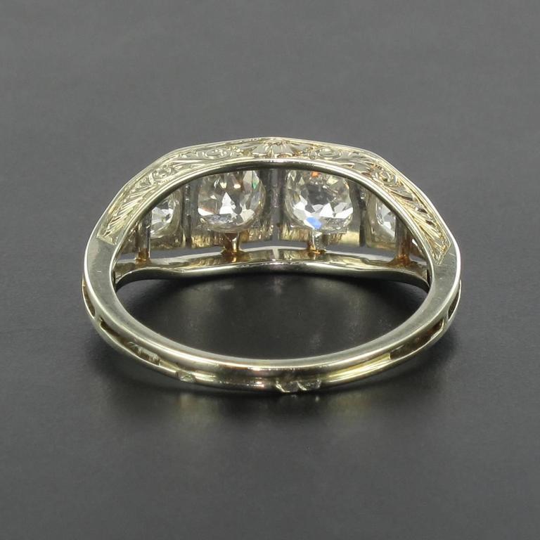 authentic deco white gold and platinum