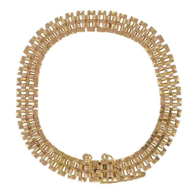 1960s Rose Gold Charm Bracelet