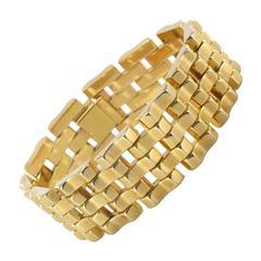 French 1940s Yellow Gold Tank Bracelet