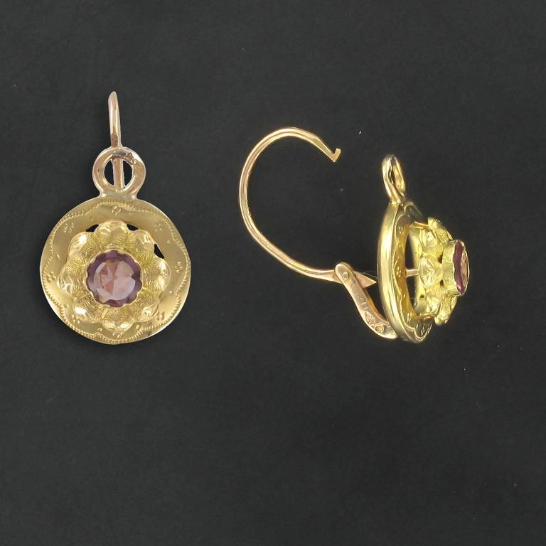 Earrings In 18 Carat Yellow Gold Horse Head Hallmark These Sleeper Each Feature
