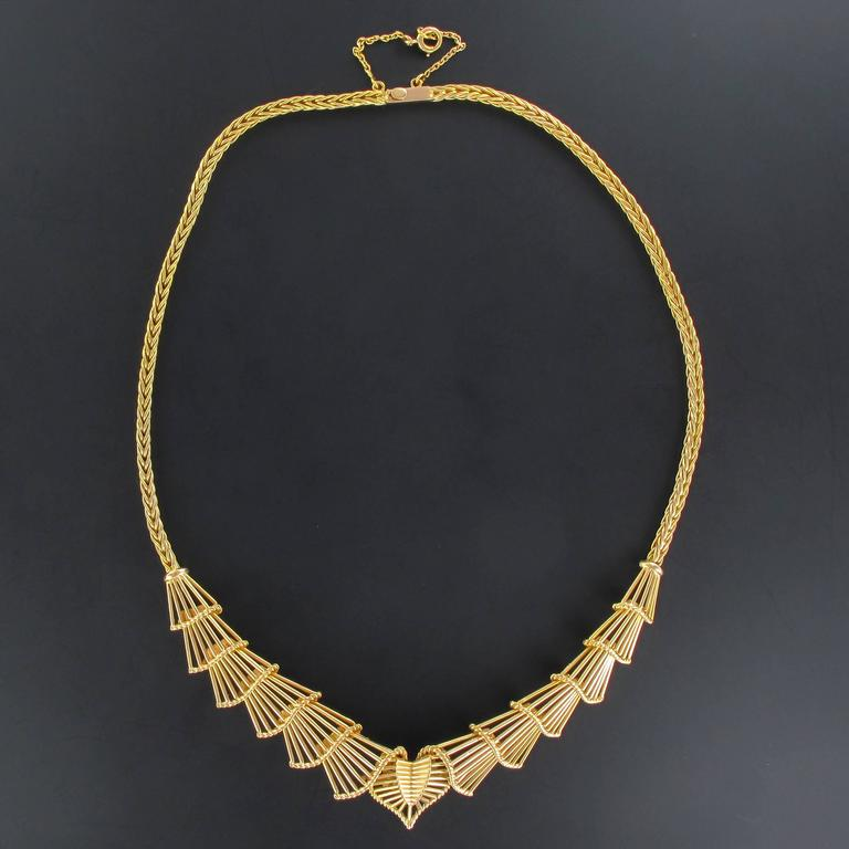 Antique Gold Necklace In New Condition For Sale In Poitiers, FR