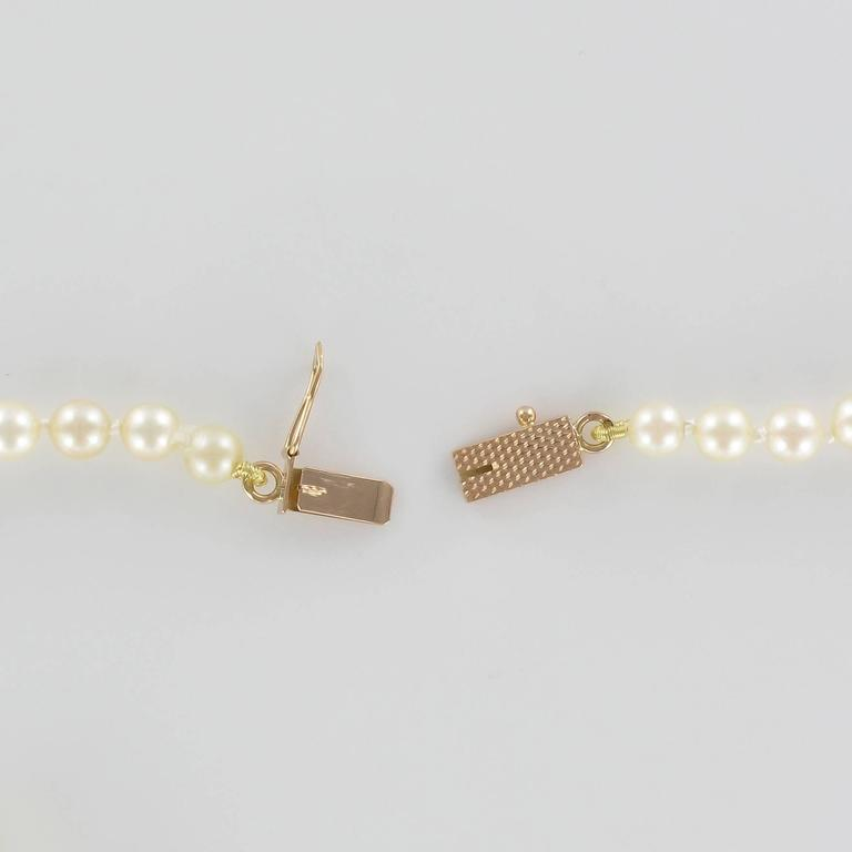 Women's 1950s Japanese Cultured Round Pearl Necklace For Sale
