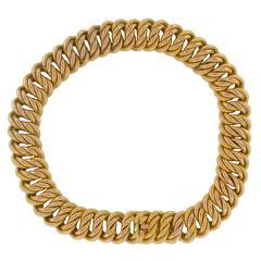 19th Century Rose Gold Textured Charm Bracelet