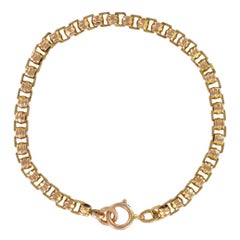 French 19th Century 18 Carat Rose Gold Chain Bracelet