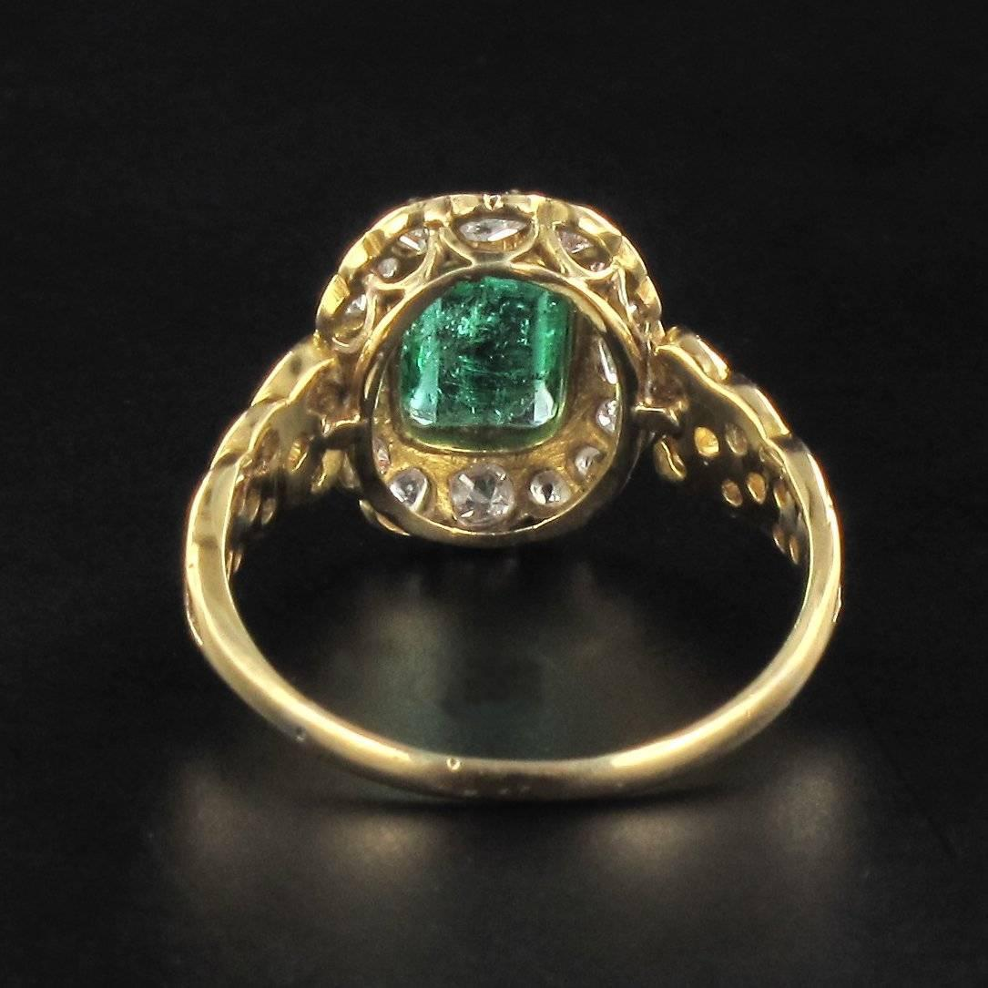 antique emerald gold ring at 1stdibs