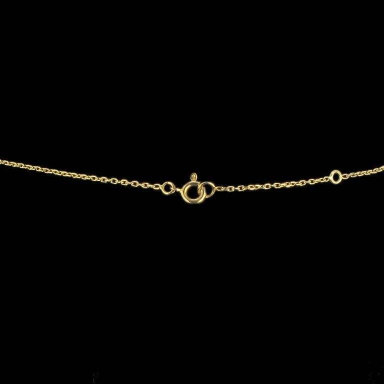Keshi Natural Pearl Diamond Gold Pendant Necklace For Sale 1