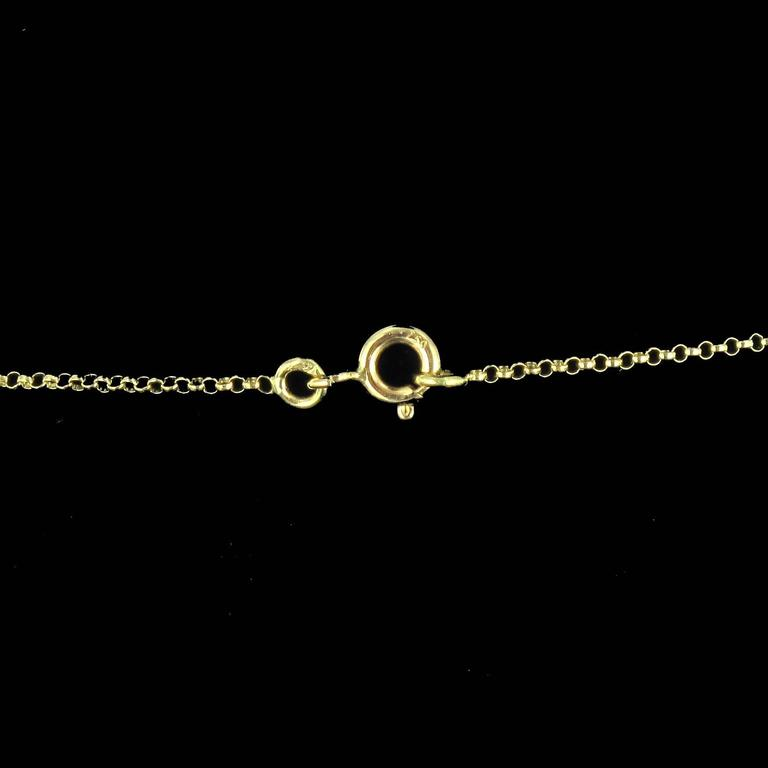 New 14.70 Carat Citrine Cultured Pearl 18 Karat Gold Drapery Chain Necklace For Sale 3