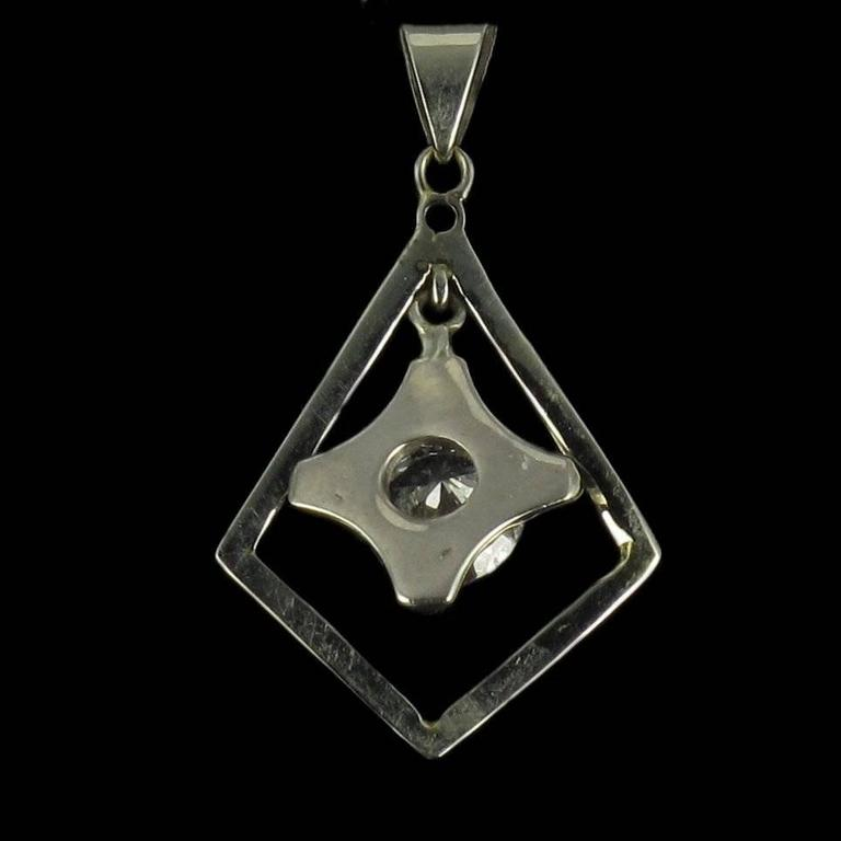 Women's 1920s  Diamond Lozenge Pendant For Sale