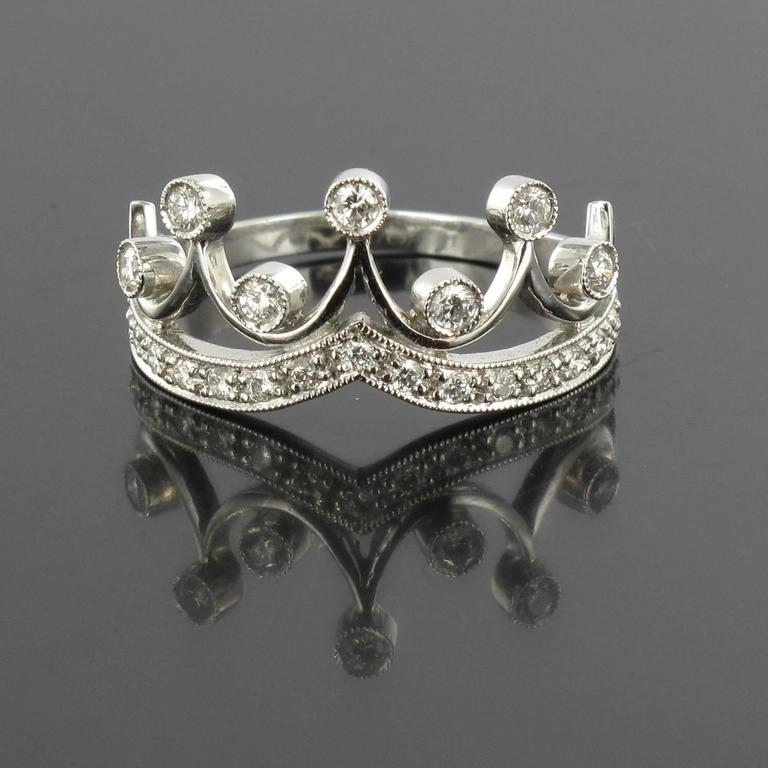 Original Diamond and Gold Tiara Ring 2