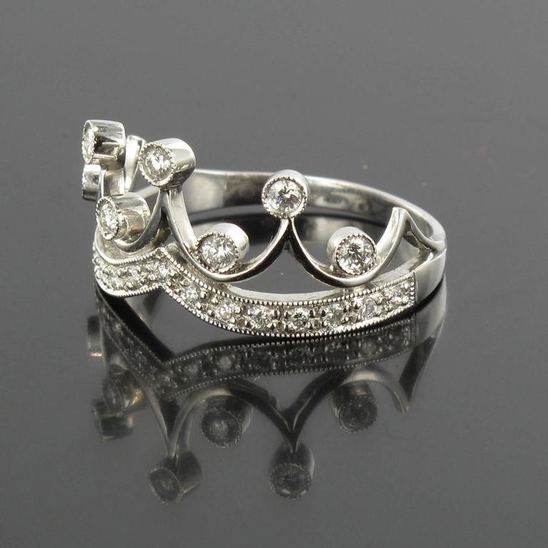 Original Diamond and Gold Tiara Ring 3