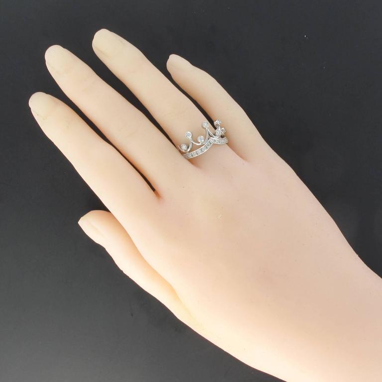 Original Diamond and Gold Tiara Ring 4