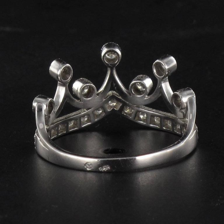 Original Diamond and Gold Tiara Ring 5