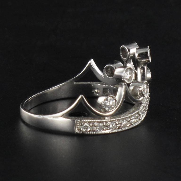 Original Diamond and Gold Tiara Ring 6