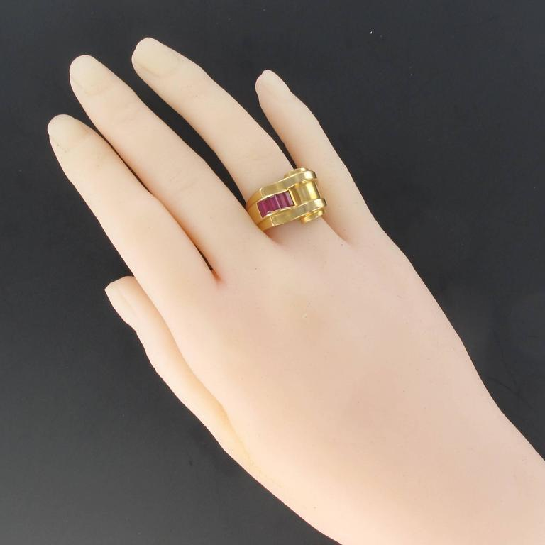 Women's Original Ruby Tank Ring For Sale