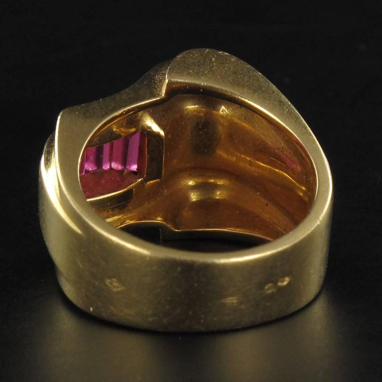 Original Ruby Tank Ring For Sale 1