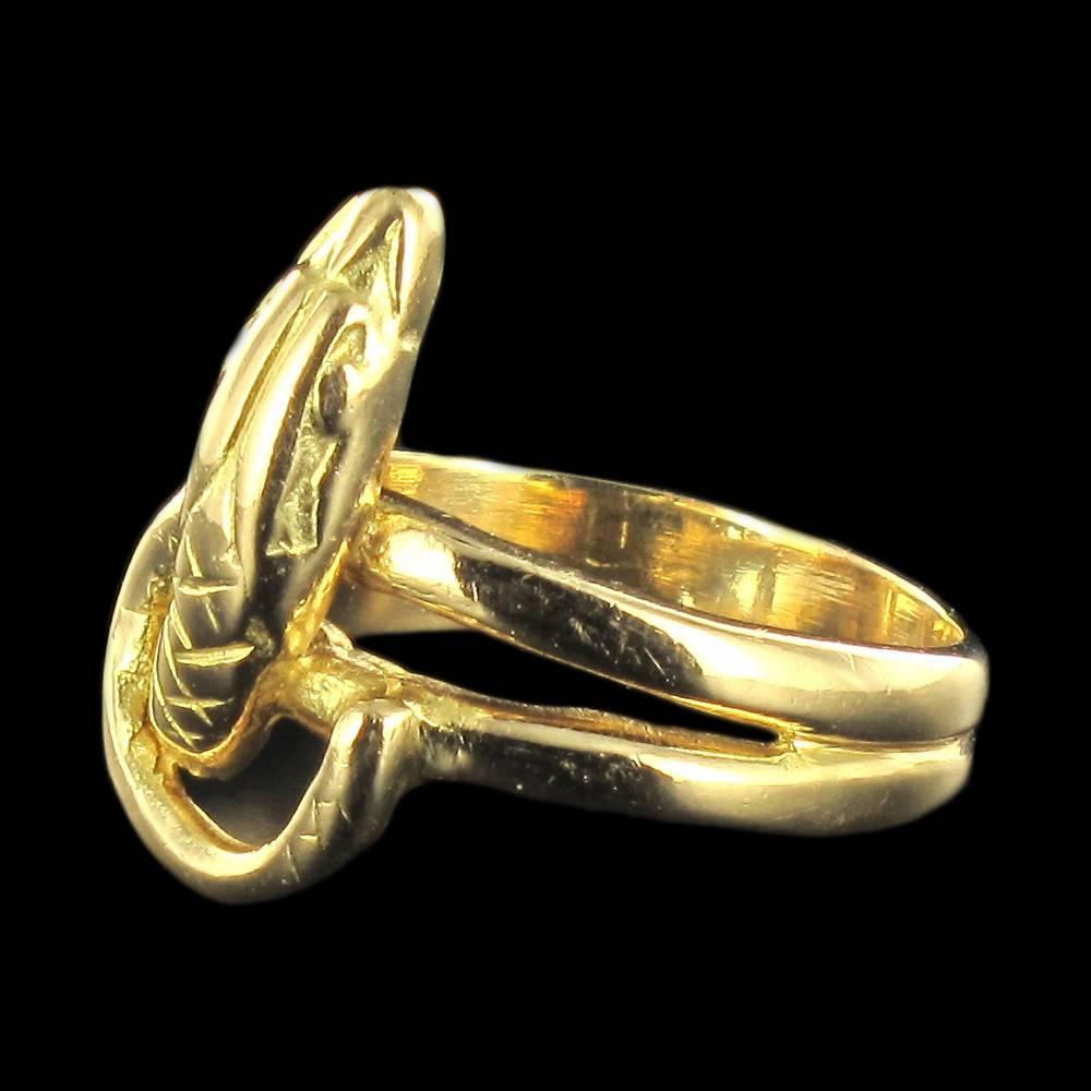 antique gold snake ring at 1stdibs