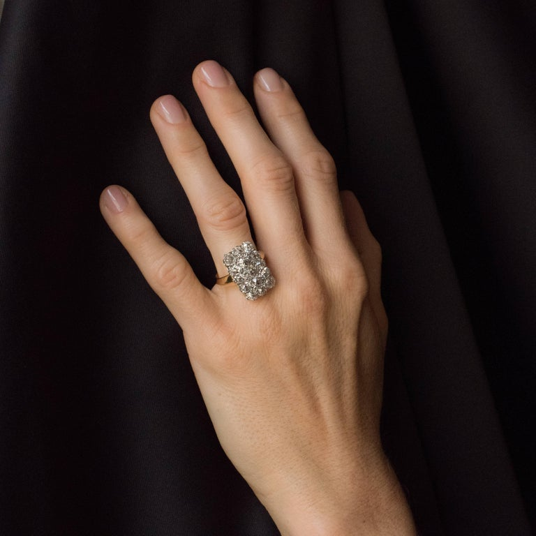French Louis Philippe Antique Rectangular 5 Carat Diamond