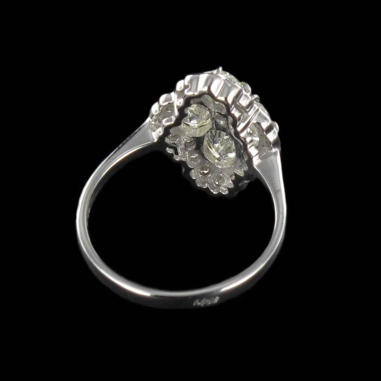 New Modern Marquise Diamond Gold Ring  8