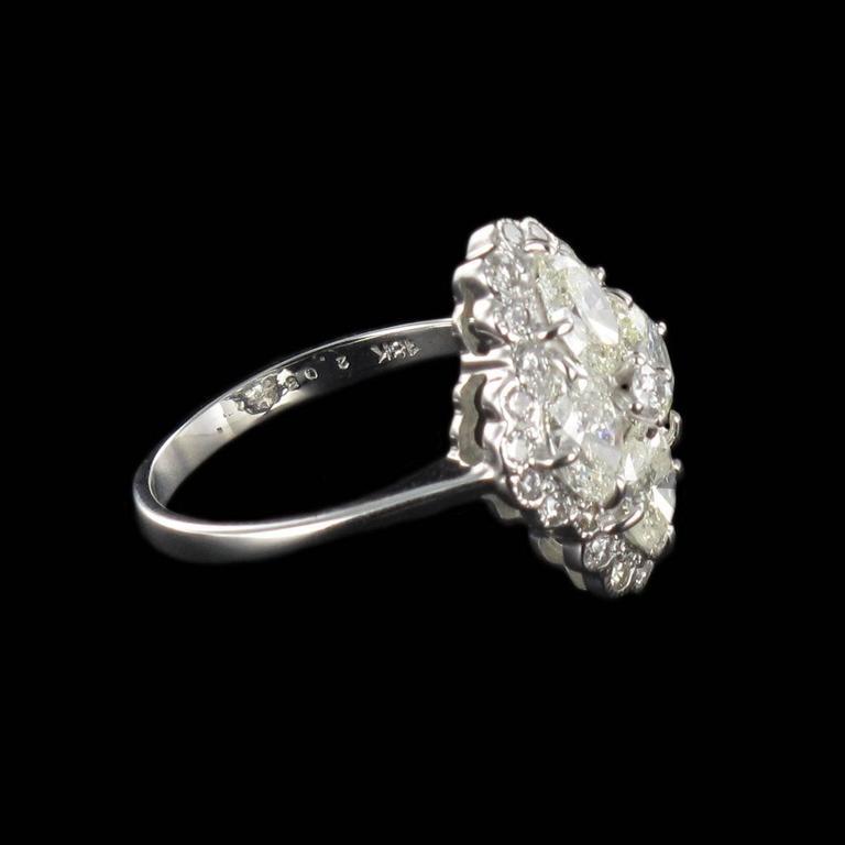 New Modern Marquise Diamond Gold Ring  9