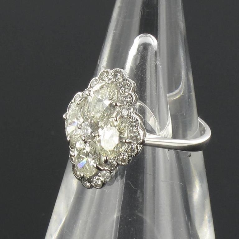 New Modern Marquise Diamond Gold Ring  5